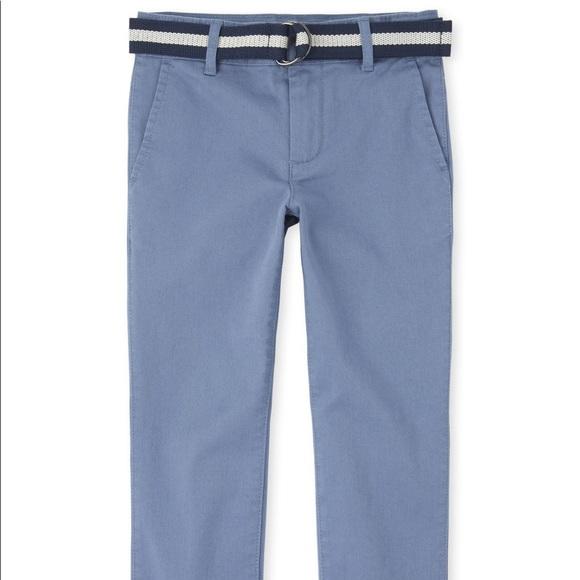 Boys Belted Stretch Chino Pants- Hudson Bay
